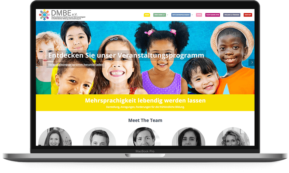 DMBE e.V. WordPress Website - Voll Webdesign & SEO