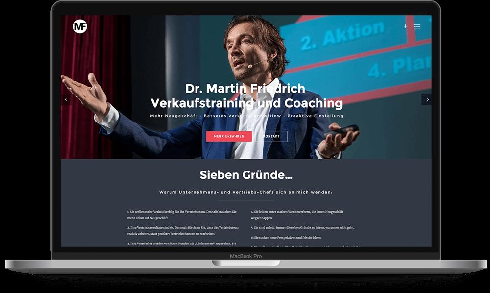 Dr. Martin Friedrich Verkaufstraining