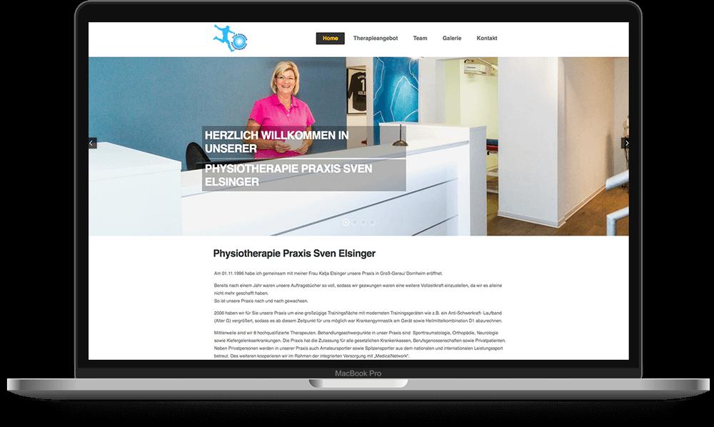 Physiotherapie Praxis von Sven Elsinger - Voll Webdesign & SEO