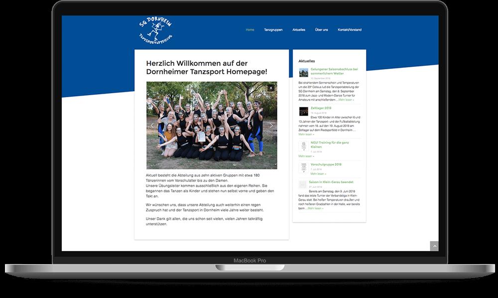 SG Dornheim Tanzsport - Voll Webdesign & SEO