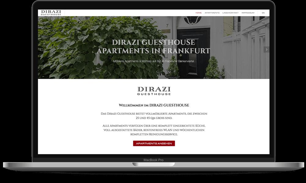 Website für Dirazi Hotel - HTML/CSS/JS - Voll Webdesign & SEO