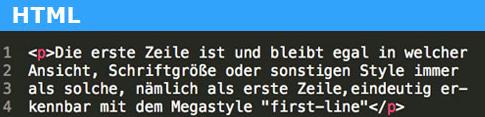 first-line-a Voll Webdesign Code